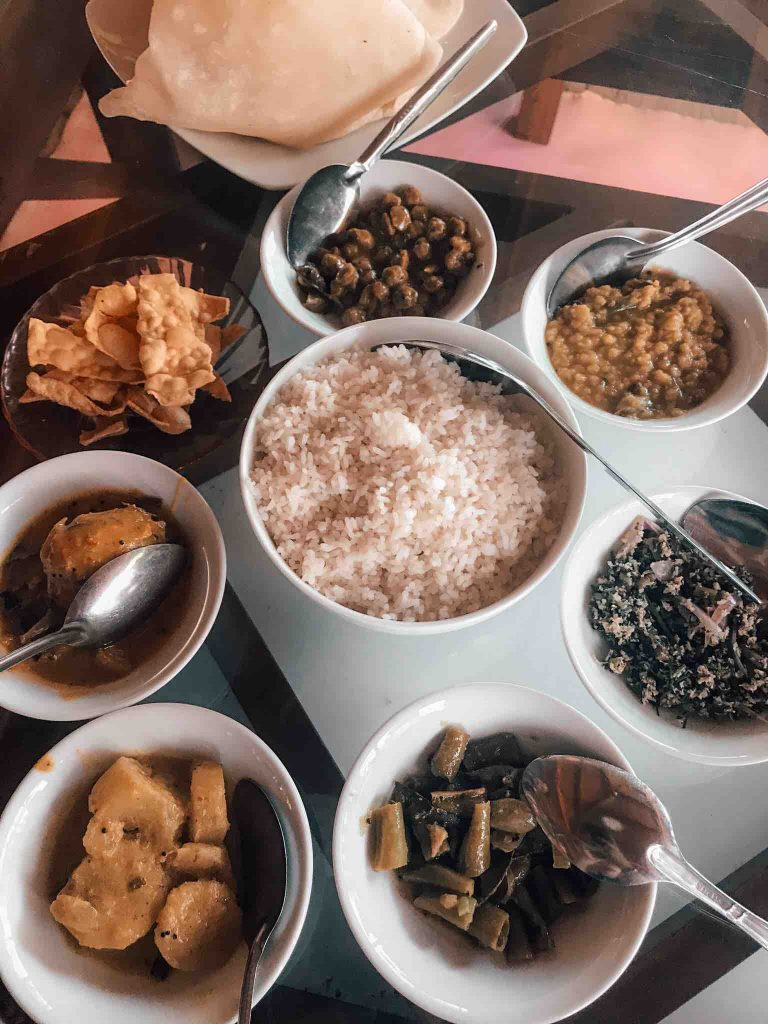 A selection of Rice and Curry