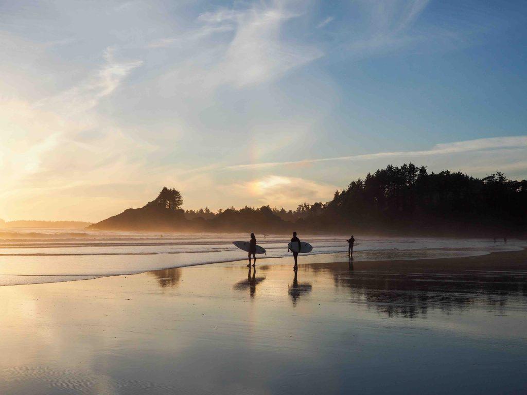 Sunset surf at Cox Bay