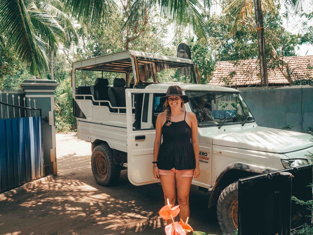 Jeep we used for safari in Yala National Park