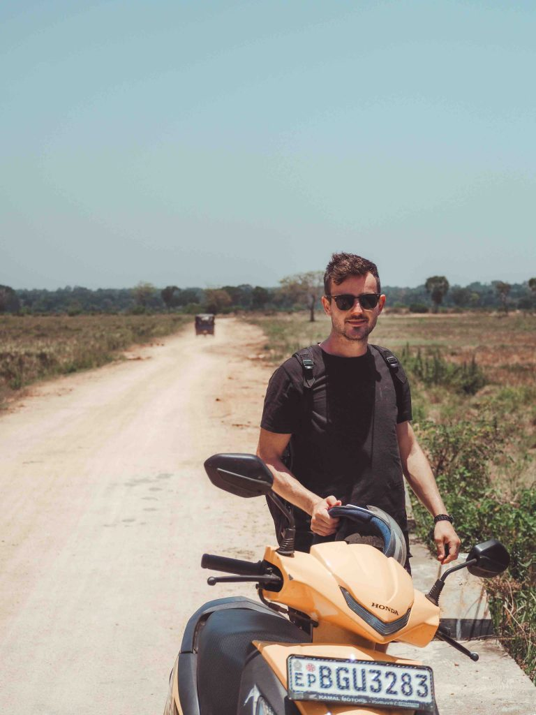 Scooter riding in Kumana National Park